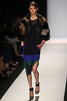 Mackenzie Drazan walks the runway wearing BCBG MAXAZRIA Fall 2012 during Mercedes-Benz Fashion Week in New York City,  on February 9th, 2012
