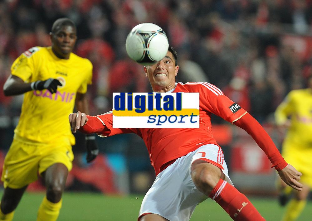20120212: LISBON, PORTUGAL – Liga Zon Sagres 2011/2012: SL Benfica vs Nacional. In Picture: Cardozo<br />PHOTO: Alvaro Isidoro/CITYFILES