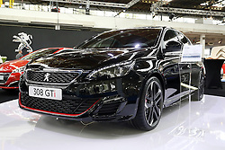 05.04.2016, Zagreb, CRO, Zagreb Auto Show, im Bild Peugeot 308 GTI // Press day at Zagreb fair before official opening of Zagreb Auto Show at Zagreb, Croatia on 2016/04/05. EXPA Pictures © 2016, PhotoCredit: EXPA/ Pixsell/ Dalibor Urukalovic<br /> <br /> *****ATTENTION - for AUT, SLO, SUI, SWE, ITA, FRA only*****