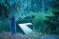 Camping and fly fishing. Gold Lake, Oregon.