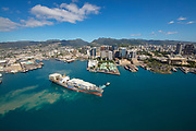 Downtown, Honolulu, Harbor, Oahu, Hawaii