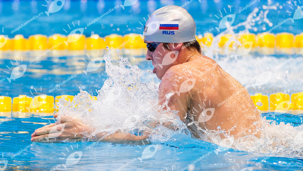 KOSTIN Oleg RUS<br /> Men's 200m breaststroke heats<br /> Netanya, Israel, Wingate Institute<br /> LEN European Short Course Swimming Championships  Dec. 2 - 6, 2015 Day02 Dec. 3nd<br /> Nuoto Campionati Europei di nuoto in vasca corta<br /> Photo Giorgio Perottino/Deepbluemedia/Insidefoto