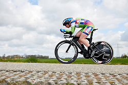 Kirsten Wild (NED) at Healthy Ageing Tour 2019 - Stage 4A, a 14.4km individual time trial starting and finishing in Winsum, Netherlands on April 13, 2019. Photo by Sean Robinson/velofocus.com