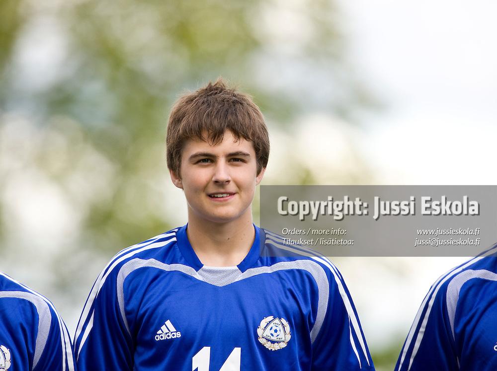 Tero Mäntylä. Suomi - Puola, alle 18-vuotiaiden maaottelu, U18. Salo 27.5.2008. Photo: Jussi Eskola
