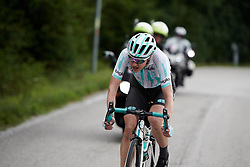 Lizzy Banks (GBR) soloing to victory during Stage 8 of 2019 Giro Rosa Iccrea, a 133.3 km road race from Vittorio Veneto to Maniago, Italy on July 12, 2019. Photo by Sean Robinson/velofocus.com