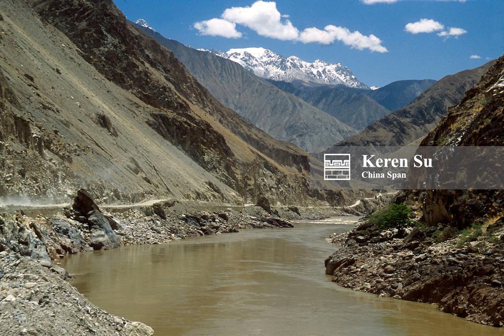 Salween River (Nu Jiang) Valley, Banda, Linzhi area, Eastern Tibet, China
