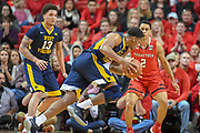 LUBBOCK, TX - JANUARY 13: Sagaba Konate #50 of the West Virginia Mountaineers drives to the basket against Jarrett Culver #23 of the Texas Tech Red Raiders during the game on January 13, 2018 at United Supermarket Arena in Lubbock, Texas. Texas Tech defeated West Virginia 72-71. (Photo by John Weast/Getty Images) *** Local Caption *** Sagaba Konate;Jarrett Culver