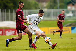 Tijanic David of NK Triglav  and Robert Jandrek of NK Krsko during Football match between NK Triglav Kranj and NK Krsko in 33th Round of Prva liga Telekom Slovenije 2018/19, on May 15th, 2019, in Sports park Kranj, Slovenia. Photo by Grega Valancic / Sportida