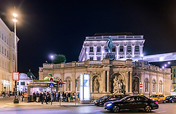 THEMENBILD - Aussenansicht des Albertina Kunstmuseums bei Nacht, aufgenommen am 03. Juli 2017, Wien, Österreich // Exterior View of the Albertina Art Museum at night, Vienna, Austria on 2017/07/03. EXPA Pictures © 2017, PhotoCredit: EXPA/ JFK