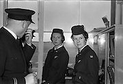 29/03/1963<br /> 03/29/1963<br /> 29 March 1963<br /> B.E.A. Aircrash at Dublin Airport. Miss D.R. Lunt and Miss J.R. Milford, BEA stewardess's on the crashed aircraft, report on the accident in the terminal at Dublin Airport. There were no fatalities in the accident.