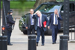 © Licensed to London News Pictures. 12/06/2017. London UK. Boris Johnson arrives in Downing Street ahead of Theresa May's first Cabinet meeting since the General Election this afternoon. Photo credit: Andrew McCaren/LNP