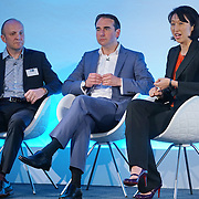 London,England,UK : 20 th June 2016 : Speaker Mike Phillips,Oli Barrett,Dr. Julia Fan Li t the London Technology Week 2016 opening press day at The Yard,Worship Street, London. Photo by See Li