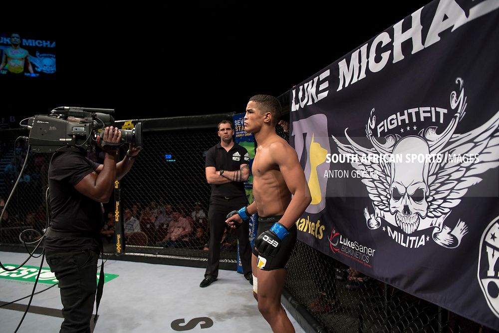 JOHANNESBURG, SOUTH AFRICA - NOVEMBER 04: Luke Michael - Catchweight -  during EFC 65 Fight Night at Carnival City on November 04, 2017 in Johannesburg, South Africa. (Photo by Anton Geyser/EFC Worldwide/Gallo Images)
