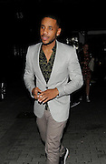 16.JUNE.2012 LONDON<br /> <br /> REGGIE YATES AT THE TINIE TEMPAH AFTER SHOW PARTY AT THE MAYFAIR PRIVATE MEMBERS CLUB.   <br /> <br /> BYLINE: EDBIMAGEARCHIVE.COM<br /> <br /> *THIS IMAGE IS STRICTLY FOR UK NEWSPAPERS AND MAGAZINES ONLY*<br /> *FOR WORLD WIDE SALES AND WEB USE PLEASE CONTACT EDBIMAGEARCHIVE - 0208 954 5968*