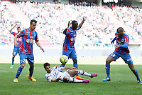 Damien DA SILVA / Clement GRENIER / Dennis APPIAH / Jordan ADEOTTI - 09.05.2015 -  Caen / Lyon  - 36eme journee de Ligue 1<br />Photo : Vincent Michel / Icon Sport