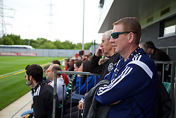 NEWPORT, WALES - Saturday, May 30, 2015: Delegates during the Football Association of Wales' National Coaches Conference 2015 at Dragon Park. (Pic by David Rawcliffe/Propaganda)