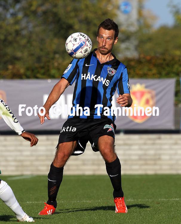 13.9.2014, Veritas Stadion, Turku.<br /> Veikkausliiga 2014.<br /> FC Inter Turku - IFK Mariehamn.<br /> Tma&aacute;s Gruborovics - Inter