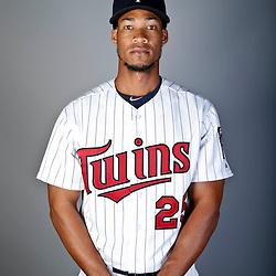 Feb 19, 2013; Fort Myers, FL, USA; Minnesota Twins shortstop Pedro Florimon (25) poses for a portrait during photo day at Hammond Stadium. Mandatory Credit: Derick E. Hingle-USA TODAY Sports
