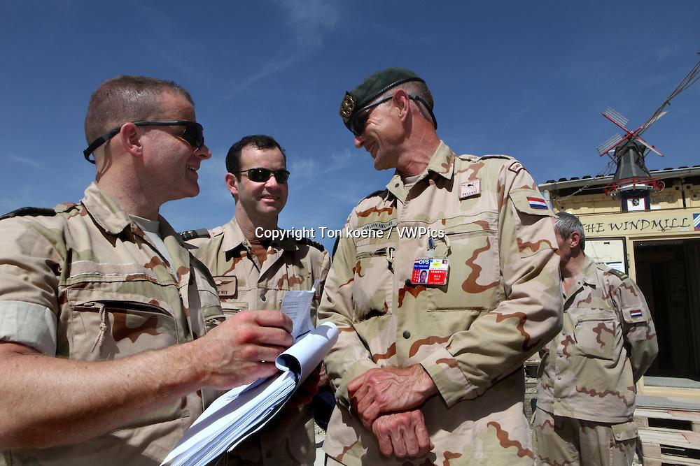 Dutch general 'kees van den heuvel' of the uruzgan ISAF troops, Afghanistan