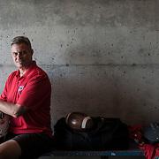 Portrait of the former Football Coach for the SFU Clansman. Editorial shot for SFU AQ magazine
