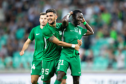 Players of NK Olimpija Ljubljana celebrate goal during 1st Leg football match between NK Olimpija Ljubljana and FC Crausaders in 2nd Qualifying Round of UEFA Europa League 2018/19, on July 26, 2018 in SRC Stozice, Ljubljana, Slovenia. Photo by Urban Urbanc / Sportida
