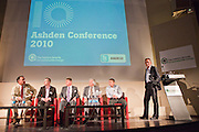 Ashden Awards UK winners during a panel discussion. Local solutions to climate change. The Ashden Awards Imperial College Conference, Royal Geographical Society, London.