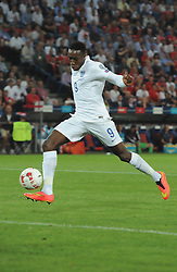 England's Danny Welbeck (Arsenal) scores the opening goal - Photo mandatory by-line: Joe Meredith/JMP - Mobile: 07966 386802 - 08/09/14 - SPORT - FOOTBALL - Switzerland - Basel - St Jacob Park - Switzerland v England - Uefa Euro 2016 Group E Qualifier