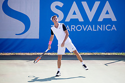 Nikola Cacic (SRB) play against Christopher Heyman (BEL) at ATP Challenger Zavarovalnica Sava Slovenia Open 2018, on August 5, 2018 in Sports centre, Portoroz/Portorose, Slovenia. Photo by Urban Urbanc / Sportida