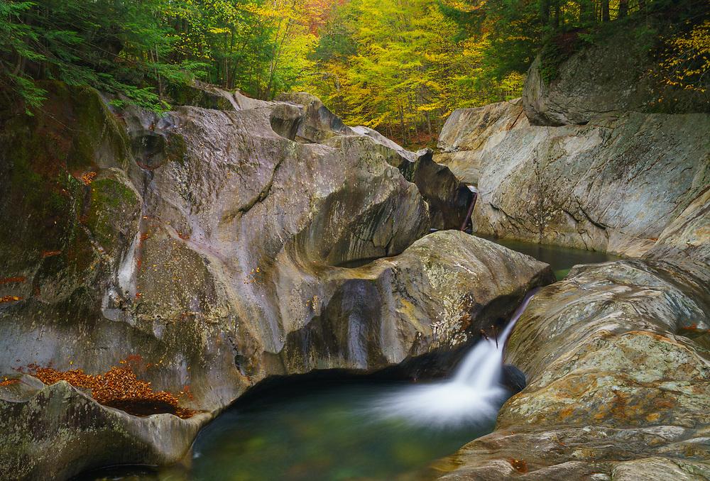Warren Falls during autumn, Warren, Vermont