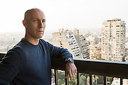 Egyptian soccer coach, Bob Bradley poses for an informal portrait in March 2012 on his balcony in Cairo, Egypt (Photograph © Ross Dettman)