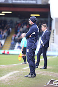 Port Vale Manager Neil Aspin   during the EFL Sky Bet League 2 match between Grimsby Town FC and Port Vale at Blundell Park, Grimsby, United Kingdom on 10 March 2018. Picture by Mick Atkins.