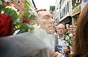 Vigil for the people murdered in the Pulse Club shooting in Orlando Florida by Omar Mateen<br /> in Old Compton Street, London, Great Britain <br /> 13th June 2016 <br /> <br /> Chris Bryant MP <br /> <br /> Jeremy Corbyn <br /> Leader of the labour Party <br /> <br /> <br /> Photograph by Elliott Franks <br /> Image licensed to Elliott Franks Photography Services