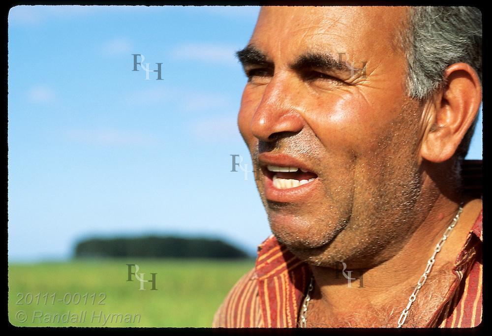 Portrait of Luis Carlos Acosta, wealthy sharecropper on rice farm Granja Bretanhas; Jaguarao. Brazil