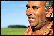 Portrait of Luis Carlos Acosta, wealthy sharecropper on rice farm Granja Bretanhas; Jaguarao. Brazil