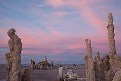 """Sunset at Mono Lake 6"" - These tufas were photographed at the South Tufa area in Mono Lake, California."