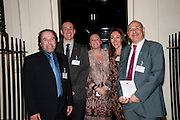 GEORGE PSARIAS; RIACHRD WALTON-ALLEN; RACHEL MCALLEY; SOPHIE HAZAN; GIANFRANCO DAMMONE, , Streetsmart Reception at 11 Downing St. London. 1 November 2011. <br /> <br />  , -DO NOT ARCHIVE-© Copyright Photograph by Dafydd Jones. 248 Clapham Rd. London SW9 0PZ. Tel 0207 820 0771. www.dafjones.com.