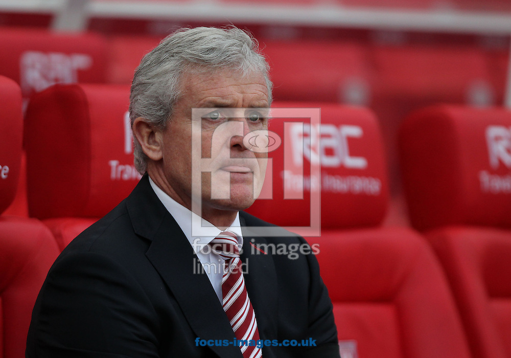 Mark Hughes, manager of Stoke City on the touchline prior to the Premier League match against Burnley at the Bet 365 Stadium, Stoke-on-Trent.<br /> Picture by Michael Sedgwick/Focus Images Ltd +44 7900 363072<br /> 03/12/2016