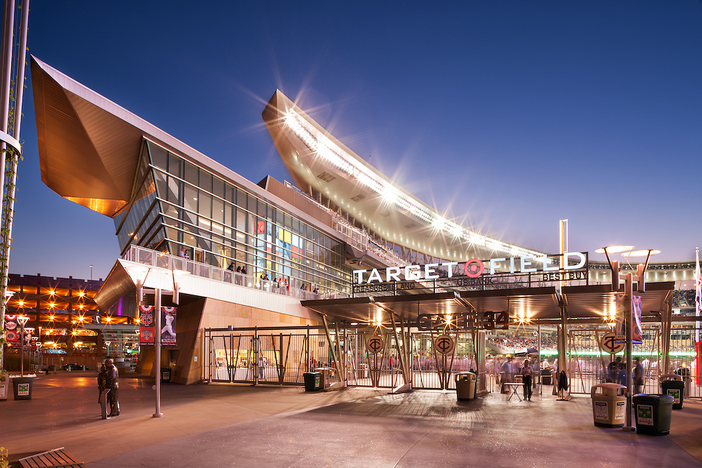 Stadium and sport photography by Minneapolis architectural photographer Jim Kruger. Story-telling imagery of these iconic architectural which help to define the communities they serve.