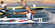 20040828 Olympic Games Athens Greece .[Canoe/Kakak Flatwater Racing] .Lake Schinias - Saturday Finals day.GBR Men's K1 [500m] Bronze medal winner Ian Wynne, in the closing stages of the Olympics final..Photo  Peter Spurrier.email images@intersport-images.com...