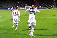 Joie Alexandre LACAZETTE - 12.12.2014 - Lyon / Caen - 18eme journee de Ligue 1 -<br />Photo : Jean Paul Thomas / Icon Sport