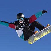 Linus Birkendahl, Germany, in action during the Men's Half Pipe Finals in the LG Snowboard FIS World Cup, during the Winter Games at Cardrona, Wanaka, New Zealand, 28th August 2011. Photo Tim Clayton...