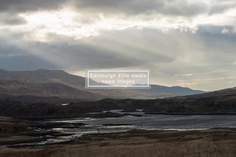 View along Loch Tarbert on Isle of Jura