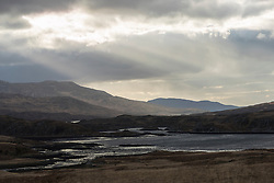 View along Loch Tarbert on Isle of Jura