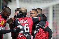 JOIE 2EME BUT GUINGAMP Christophe MANDANNE  - 24.01.2015 - Guingamp / Lorient - 22eme journee de Ligue1<br />Photo : Vincent Michel / Icon Sport *** Local Caption ***