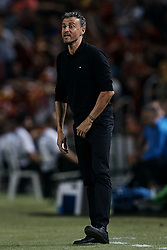 September 11, 2018 - Alicante, Alicante, Spain - Luis Enrique head coach of Spain reacts at the dugout during the UEFA Nations League A group four match between Spain and Croatia at Martinez Valero  on September 11, 2018 in Elche, Spain  (Credit Image: © David Aliaga/NurPhoto/ZUMA Press)