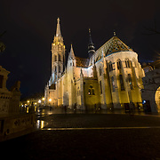 BUDAPEST, HUNGARY - DECEMBER 07:  A general view of  Matthias Chrurch decorated for Christmas on December 7, 2017 in Budapest, Hungary. The traditional Christmas market and lights will stay until 31st December 2017.