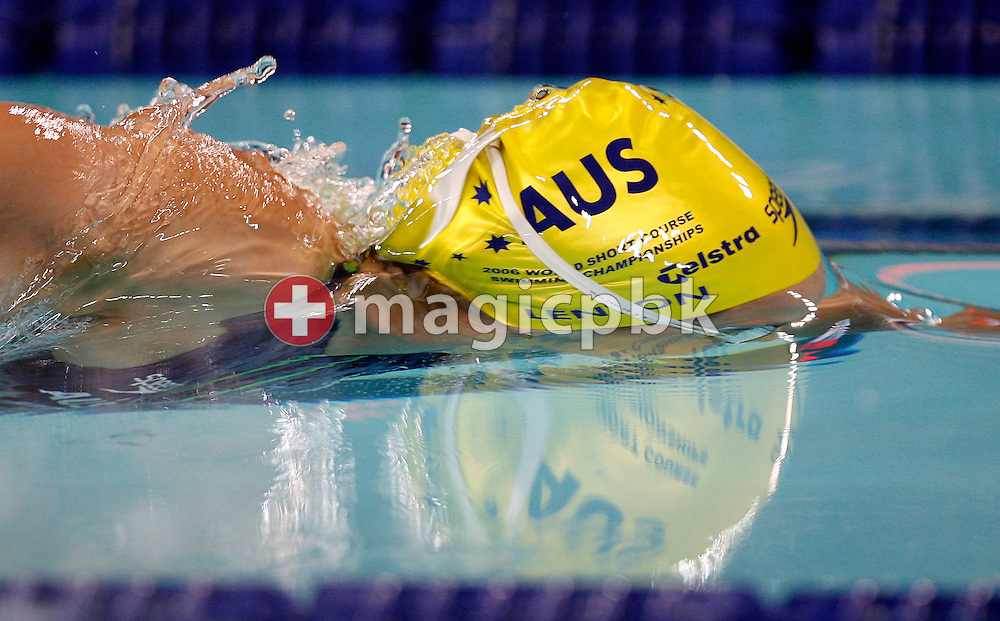 Lisbeth LENTON of Australia breaks through the water surface after starting in the women's 50m Freestyle Semifinal during day four of the 8th FINA World Swimming Championships (25m) held at Qi Zhong Stadium April 8, 2006 in Shanghai, China. (Photo by Patrick B. Kraemer / MAGICPBK)