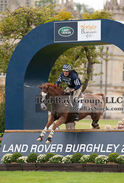 Boyd Martin and Neville Bardos at the 2011 Land Rover Burghley Horse Trials in Stamford, UK.