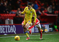 Daniel Leadbitter of Bristol Rovers is fouled by Chris Solly of Charlton Athletic - Mandatory by-line: Alex James/JMP - 24/11/2018 - FOOTBALL - The Valley - Charlton, London, England - Charlton Athletic v Bristol Rovers - Sky Bet League One