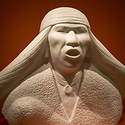 Carrara Marble sculpture titled &quot;Apache&quot; by Allan Houser at the Smithsonian American Indian Museum, Washington DC USA<br />